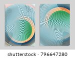 abstract cover template with... | Shutterstock .eps vector #796647280