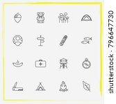 camping line icon set street ... | Shutterstock .eps vector #796647730