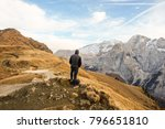 people in the mountain | Shutterstock . vector #796651810