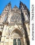 vertical towering spires of... | Shutterstock . vector #796654624