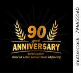 90 years anniversary logo.... | Shutterstock .eps vector #796655560