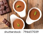 chocolate mousse on wood... | Shutterstock . vector #796657039
