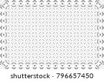 black and white pattern for... | Shutterstock . vector #796657450