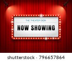 Theater Sign On Curtain With...