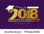 graduation label. vector text... | Shutterstock .eps vector #796663408