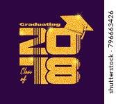 graduation label. vector text... | Shutterstock .eps vector #796663426