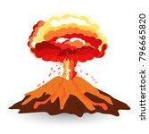 volcano isolated on white photo ...   Shutterstock .eps vector #796665820