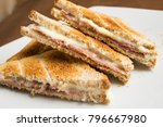 cheese and ham toasts   Shutterstock . vector #796667980