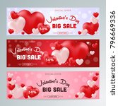 valentines day sale background... | Shutterstock .eps vector #796669336