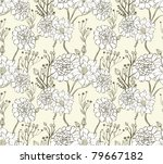 hand drawn floral wallpaper... | Shutterstock .eps vector #79667182