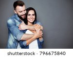 beautiful young smiling loving... | Shutterstock . vector #796675840