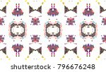 mosaic colorful artistic... | Shutterstock . vector #796676248