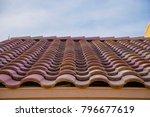 terracotta roof blue sky... | Shutterstock . vector #796677619