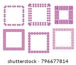 decorative border frames.... | Shutterstock .eps vector #796677814