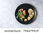 fried scallops with lemon  figs ... | Shutterstock . vector #796679419