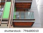 balcony detail  neighborhood ... | Shutterstock . vector #796680010