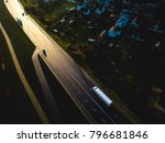 drone aerial view of road with... | Shutterstock . vector #796681846