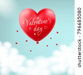 st.valentine s day card. heart... | Shutterstock .eps vector #796685080