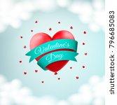 vector design for st. valentine ... | Shutterstock .eps vector #796685083