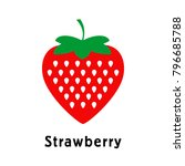 strawberries on a white... | Shutterstock .eps vector #796685788