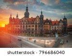 dresden in germany.... | Shutterstock . vector #796686040