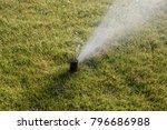 water sprinkler irrigation... | Shutterstock . vector #796686988