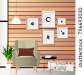 furniture. interior. living... | Shutterstock .eps vector #796693030
