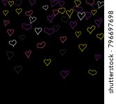 hand drawn hearts. background.  ... | Shutterstock .eps vector #796697698