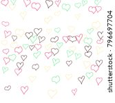 hand drawn hearts. background.  ... | Shutterstock .eps vector #796697704