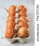close up of easter eggs tith... | Shutterstock . vector #796707190