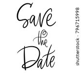save the date lettering... | Shutterstock .eps vector #796715998