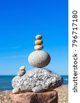 rock zen pyramid of white and... | Shutterstock . vector #796717180