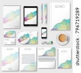 corporate identity business set ... | Shutterstock .eps vector #796719289