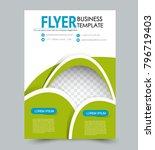 flyer template. annual report... | Shutterstock .eps vector #796719403