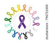world cancer day. colorful... | Shutterstock .eps vector #796721404