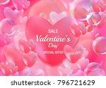 valentine's day romantic...   Shutterstock .eps vector #796721629