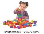 montessori concept with cute... | Shutterstock . vector #796724893