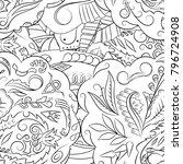 seamless mehndi vector pattern. ...   Shutterstock .eps vector #796724908