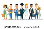 flat style professional people... | Shutterstock .eps vector #796726216