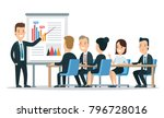 flat style business people... | Shutterstock .eps vector #796728016