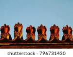 detail from an old neoclassical ...   Shutterstock . vector #796731430