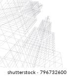 architecture vector illustration | Shutterstock .eps vector #796732600