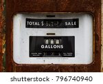 closeup of a rusty old gasoline ... | Shutterstock . vector #796740940