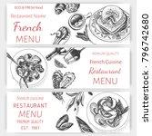 vector sketch of the menu of...   Shutterstock .eps vector #796742680