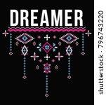 ethnic slogan graphic | Shutterstock .eps vector #796743220