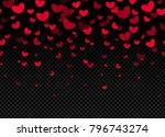 seamless hearts border on dark... | Shutterstock .eps vector #796743274