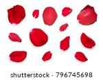 red rose petals isolated on a...   Shutterstock . vector #796745698
