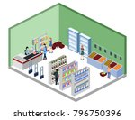 isometric 3d illustration... | Shutterstock . vector #796750396