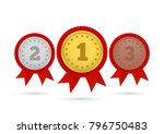 champion gold  silver and... | Shutterstock .eps vector #796750483