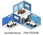 isometric 3d illustration set...   Shutterstock . vector #796752958